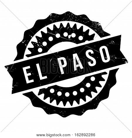 El Paso stamp. Grunge design with dust scratches. Effects can be easily removed for a clean, crisp look. Color is easily changed.
