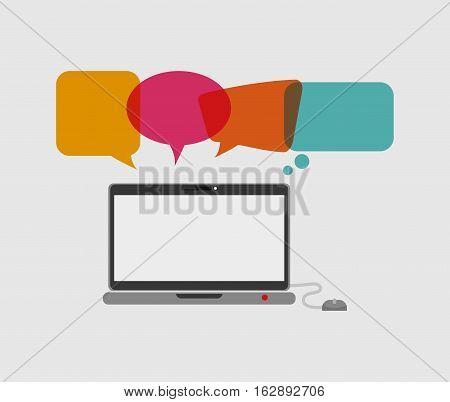 Chat bubble social media icon vector illustration graphic design