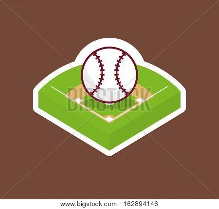baseball field ball icon vector illustration graphic design