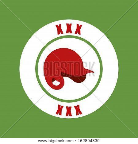 baseball sport hat icon vector illustration graphic design