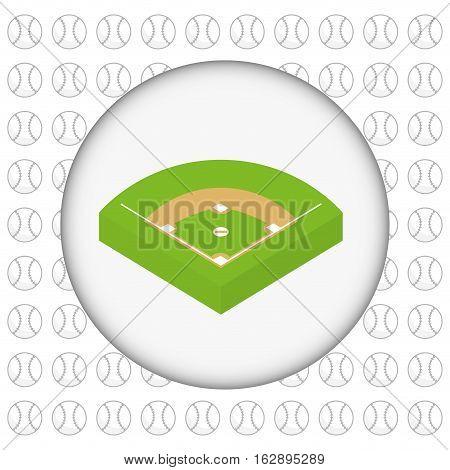 baseball game field icon vector illustration graphic design