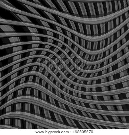 Design monochrome grid illusion background. Abstract torsion backdrop. Vector-art illustration. EPS10