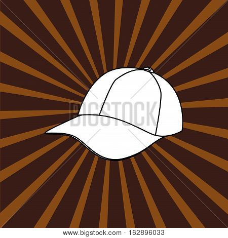 baseball hat cap icon vector illustration graphic design