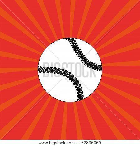 baseball ball sport icon vector illustration graphic design