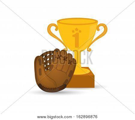 baseball championship cup icon vector illustration graphic design