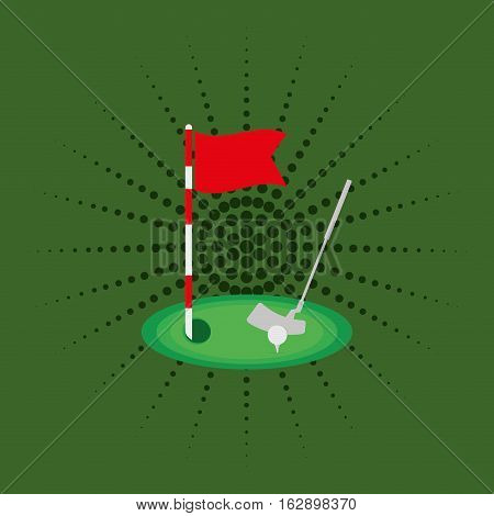 Golf sport game icon vector illustration graphic design