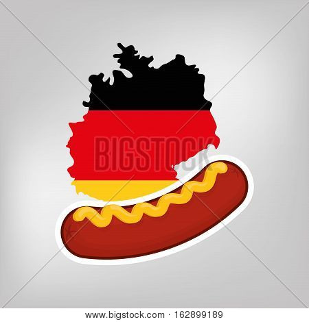Sausage german food icon vector illustration graphic design icon vector illustration graphic design