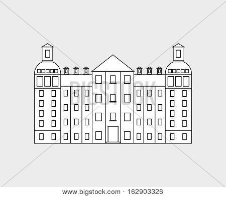 German architecture building icon vector illustration graphic design