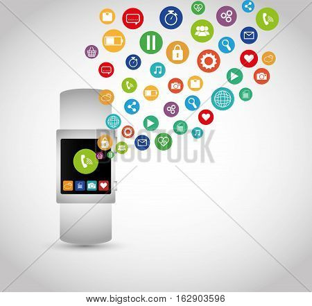 Wearable mobile technology icon vector illustration graphic design