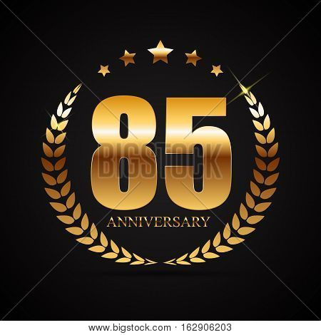Template Logo 85 Years Anniversary Vector Illustration EPS10