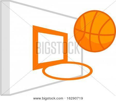 basketball basket and board