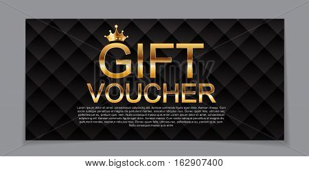 Gift Voucher Template for Discount Coupon  Vector Illustration EPS10