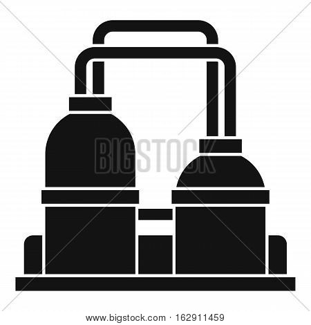 Simple illustration of oil processing factory vector icon for web