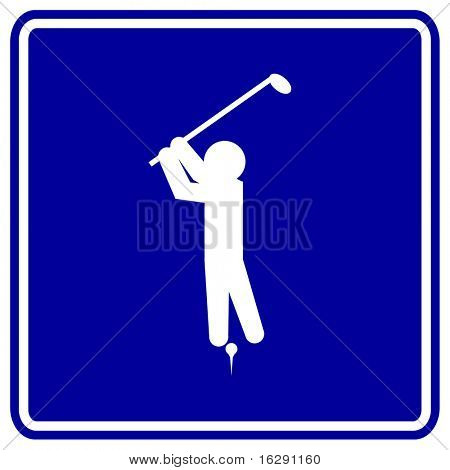 playing golf sign