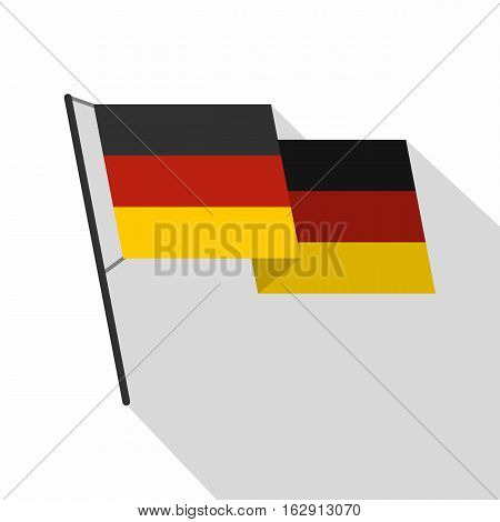 German flag icon. Flat illustration of german flag vector icon for web isolated on white background