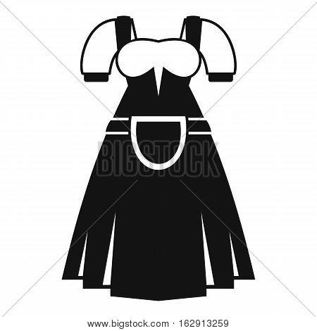 Traditional Bavarian dress icon. Simple illustration of traditional Bavarian dress vector icon for web