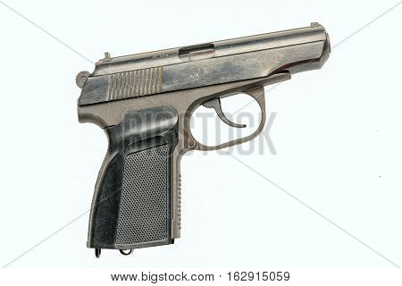 pm hand gun isolated on white background