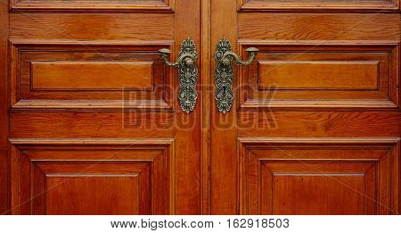 Detail Of Wooden Door At Hermitage Palace