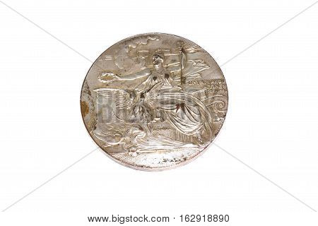 Athens 1906 Olympic Games Participation Medal Obverse Kouvola Finland 06.09.2016.