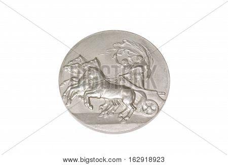 Stockholm 1912 Olympic Games Participation Medal Obverse Kouvola Finland 06.09.2016.