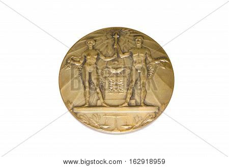 Amsterdam 1928 Olympic Games Participation Medal Obverse Kouvola Finland 06.09.2016.