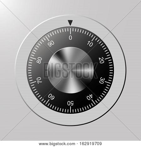 Combination, code lock number. Vector concept illustration for design.