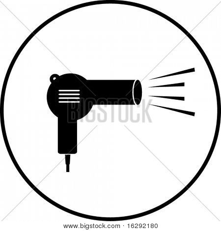 hair dryer or blow dryer symbol