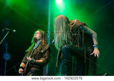 TOLMIN, SLOVENIA - JULY 26TH: RUSSIAN PAGAN METAL BAND ARKONA PERFORMING AT METALDAYS FESTIVAL ON JULY 26TH, 2016 IN TOLMIN, SLOVENIA
