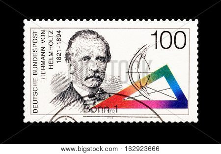 GERMANY - CIRCA 1994 : Cancelled postage stamp printed by Germany, that shows Hermann Vom Holmholtz.