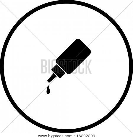 eye drops bottle symbol