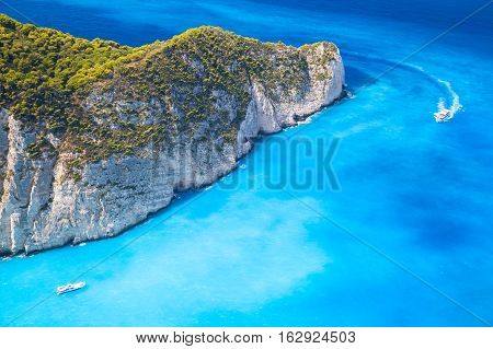 Pleasure Motor Boats, Navagio Bay, Greece