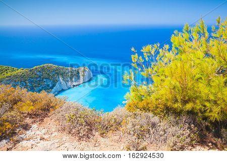 Navagio Bay, Greece, Coastal Summer Landscape