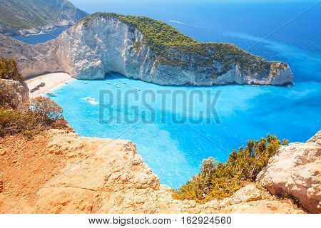 Ship Wreck Beach, Navagio Bay. Zakynthos