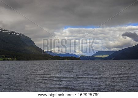 This is lake Hornindalsvatnet - the deepest lake in Norway and throughout Europe.