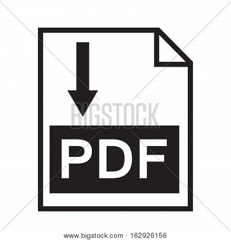 Download pdf file button isolated on white background. pdf file sign.