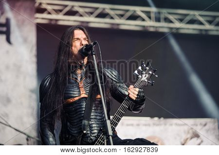 TOLMIN, SLOVENIA - JULY 28TH: GREEK SYMPHONIC DEATH METAL BAND SEPTICFLESH PERFORMING AT METALDAYS FESTIVAL ON JULY 28TH, 2016 IN TOLMIN, SLOVENIA