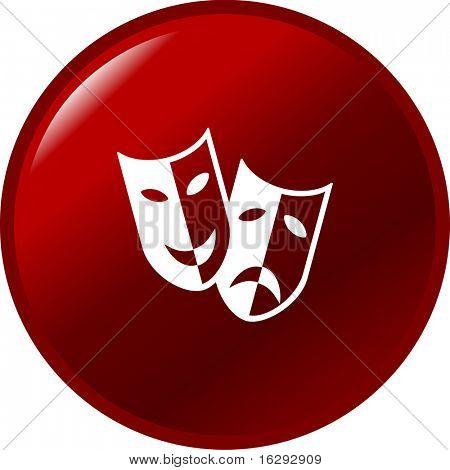 theater drama masks button