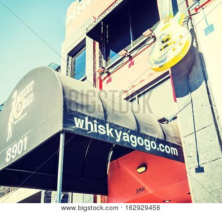 Los Angeles California - November 02 2016: Whisky a go go in Sunset Strip