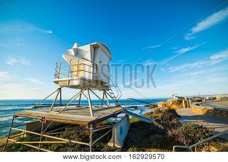 lifeguard tower in La Jolla beach California