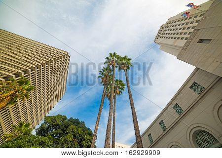 Los Angeles city hall in California, usa