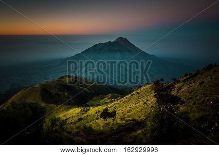 Dormant Stratovolcano Mt. Merbabu