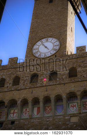 Palazzo Vecchio - Florence. From Loggia dei Lanzi.