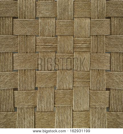 basketwork brown background, woven pattern Thai style