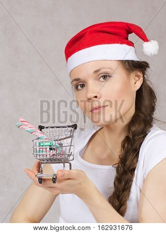 Young Woman Makes Shopping