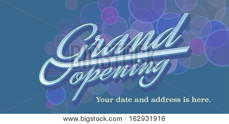 Grand opening vector illustration background banner design element for new store