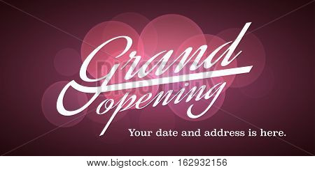 Grand opening vector illustration background for new store shop etc. Template banner flyer design element invitation for opening ceremony