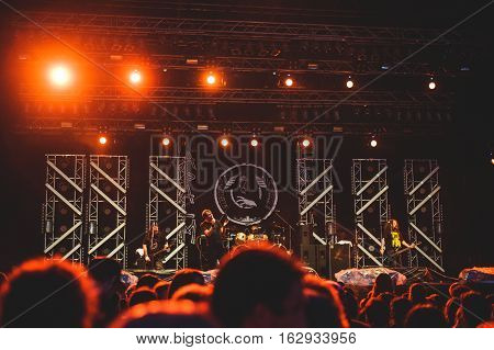 TOLMIN, SLOVENIA - JULY 27TH: BRITISH DEATH METAL BAND NAPALM DEATH PERFORMING AT METALDAYS FESTIVAL ON JULY 27TH, 2016 IN TOLMIN, SLOVENIA