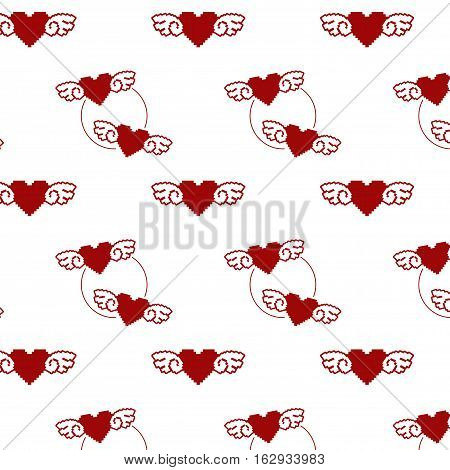 8; 8-bit; angel; art; bit; card; computer; day; decoration; eight; game; graphic; greeting; heart; icon; illustration; isolated; love; mosaic; pixel; red; retro; romance; romantic; shape; sign; style; symbol; valentine; vector; video; white; wings; design