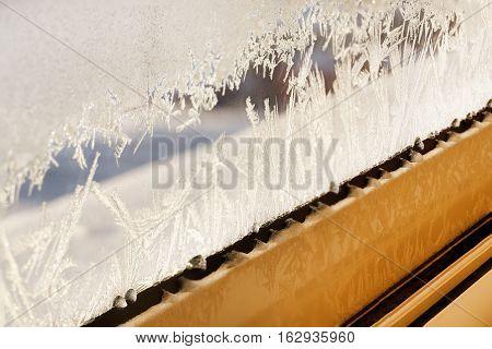 Frozen Window Glass