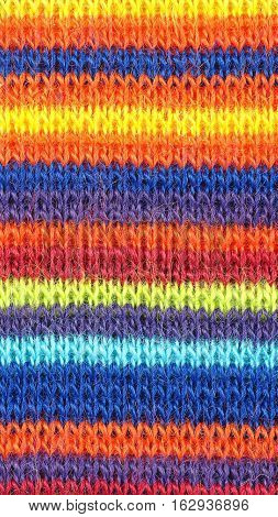 Multicolored Horizontal Stripe Fabric Background - Vertical
